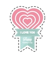 happy valentines day card big heart cut line vector image