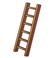 a wooden ladder vector image vector image