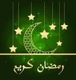 ramadan greeting card vector image