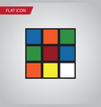 Isolated rubik flat icon cube element can vector image