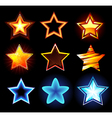 set of glowing stars vector image vector image