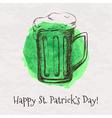 Colorful of hand drawn sketch of beer mug fo vector image