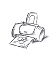Printer sketch for your design vector image vector image