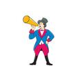 Circus Ringmaster Bullhorn Standing Cartoon vector image