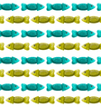 Seamless pattern with fish-2 vector image
