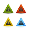 warning sign icon vector image vector image