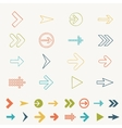 Arrow sign icon set doodle hand draw of web design vector image