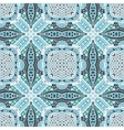 geometric tiled grunge doodle pattern vector image