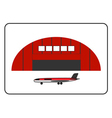 Hangar icon with plane in the frame vector image