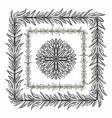 ink hand drawn floral brushes for ornate frames vector image