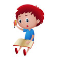 little boy writing on notebook vector image