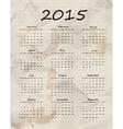 Paper calendar 2015 vector image
