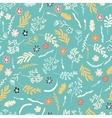 Seamless floral pattern on dark brown background vector image