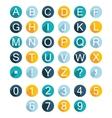 Set Alphabet Icons vector image