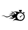 speedometer abstract symbol of speed vector image