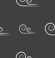 Wind icon sign Seamless pattern on a gray vector image