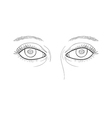 woman eyes vector image