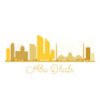 Abu Dhabi City skyline golden silhouette vector image