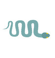 snake isolated cobra crawling on white background vector image