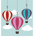 Airballoon design over cloudscape background vector image