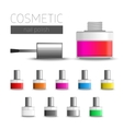 Multi-colored nail polish vector image