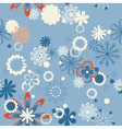 abstract seamless floral background vector image vector image
