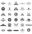 Set of vintage badges and labels vector image vector image