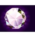 A brilliant cut diamond vector image