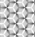 Monochrome linear striped puckered hexagons vector image