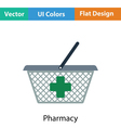 Pharmacy shopping cart icon vector image