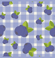 seamless pattern with blueberry bright colors vector image