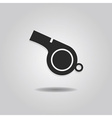 single abstract referee whistle icon vector image