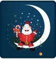 Santa on moon vector image vector image