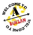 Durban stamp rubber grunge vector image