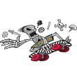 Bones Boarder vector image vector image