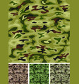 seamless military and hunting camo vector image vector image