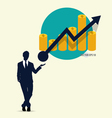 Businessman showing graph vector image vector image