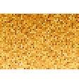 Golden Mosaic Texture vector image vector image