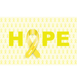 childhood cancers ribbon vector image vector image