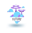 abstract object of the future vector image