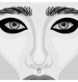 Retro Woman Portrait with Beautiful Eyes vector image