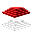 pyramid with steps vector image vector image