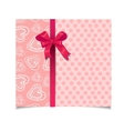 Beautiful vintage pink greeting card vector image