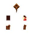 flat icon sweet set of shaped box dessert vector image