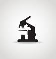 Microscope Black Icon vector image