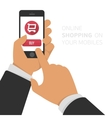 Online shopping on your mobiles vector image