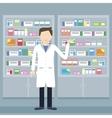 Pharmacist in a Pharmacy vector image