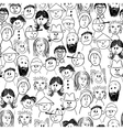 seamless crowd of people vector image