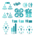 Set business icons management and human resources vector image