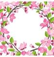 Pretty beautiful Shabby Chick Cherry blossom vector image vector image